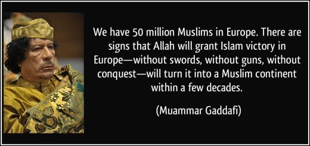GadaffiEuropeIslamizationWitjoutViolence