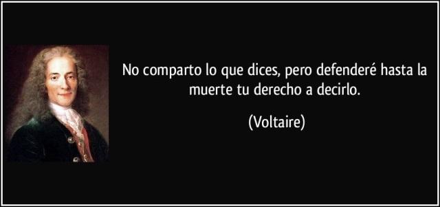 VoltaireNoCompartoLoQueDicesPeroDefendereTuDerechoADecirlo