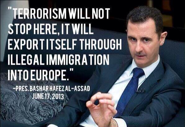 AssadTerrorismWillNotStopHereIlegalImmigrationIntoEurope