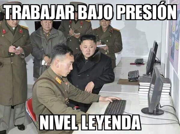 CoreaDelNorteTrabajarBajoPresion