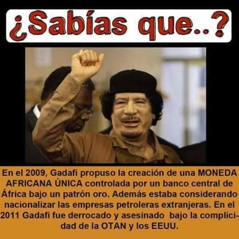 Gaddafi2009monedaAfricanaPatronOroLuegoFueAsesinado