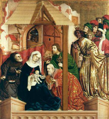 tres reyes Altar Wurzach de Hans Multscher 1437.jpg