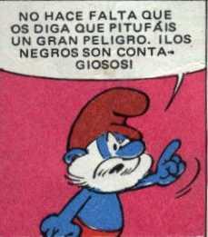 papa-pitufo-sobre-los-pitufos-negros