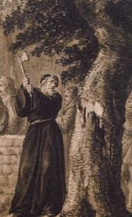 Santo-cortando-arbol-pagano
