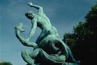 hombre-luchando-contra-la-serpiente