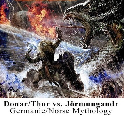 Thor-against-Jörmungandr