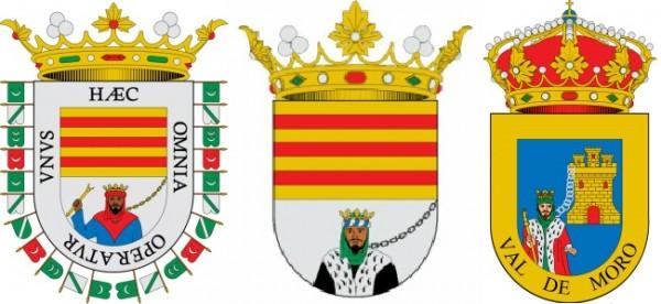 Escudos-de-Comares-Valenzuela-y-Valdemoro-con-Boabdil-con-cadenas