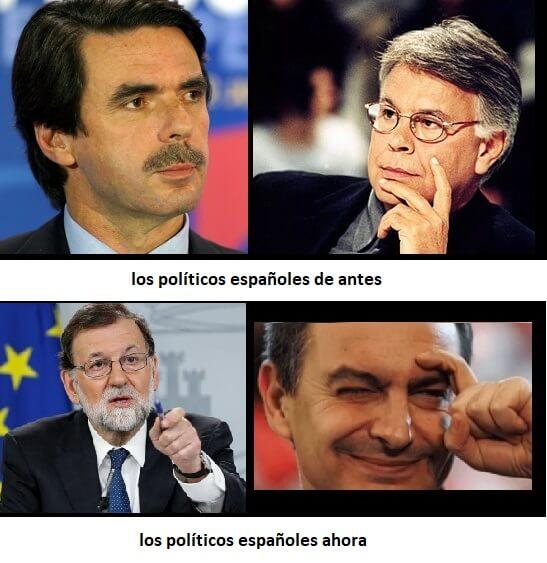 politicos-españoles-antes-y-ahora