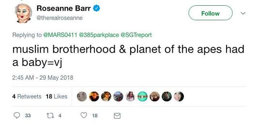 Roseanne-racist-tweet
